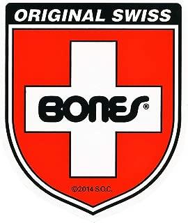 Bones Bearings Skateboard Sticker Swiss Shield Red 4