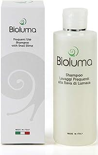 Bioluma Bava di Lumaca Shampoo 200ml Delicato Lavaggi Frequenti Detergente Ricco di Principi Attivi Cheratina Argan Aminoa...