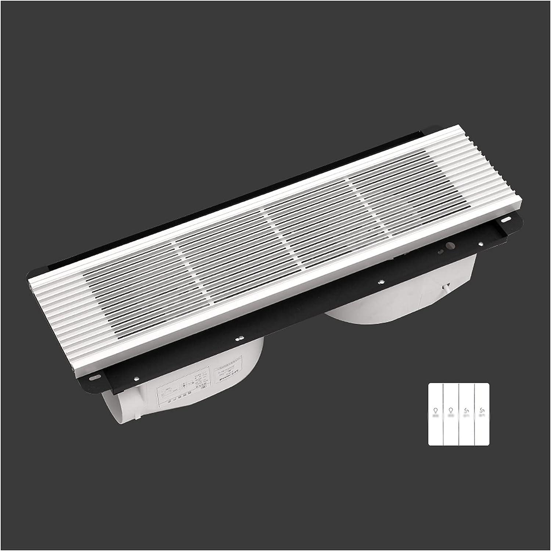 zlw-shop Ventilador Oculto Rectangular Ventilador de Techo Parrilla Doble Motor Ventilador de Escape de Doble núcleo Potente Ventilador Ventilador, Blanco/Negro, 40W × 2 (Color : White, Style : B)