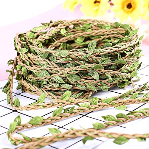 make it funwan 66Ft/20M Artificial Vine Fake Foliage Leaf Plant Garland Rustic Wedding Home Décor