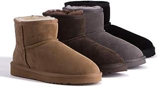 Sponsored Ad - Aus Wooli Australia Water-Resistant Unisex Genuine AU Sheepskin Short Ankle Boots