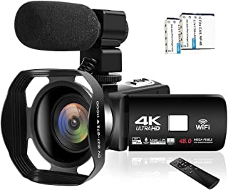 Camcorder Video Camera 4K 48MP WiFi YouTube Camera Night Vision Camcorder Blogging Camera 16x Digital Camera Vlog Video Ca...