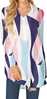 ZANZEA Blouse voor dames, oversized, buttondown, shirt met lange mouwen, casual, tuniek, longshirt, effen cardigan met