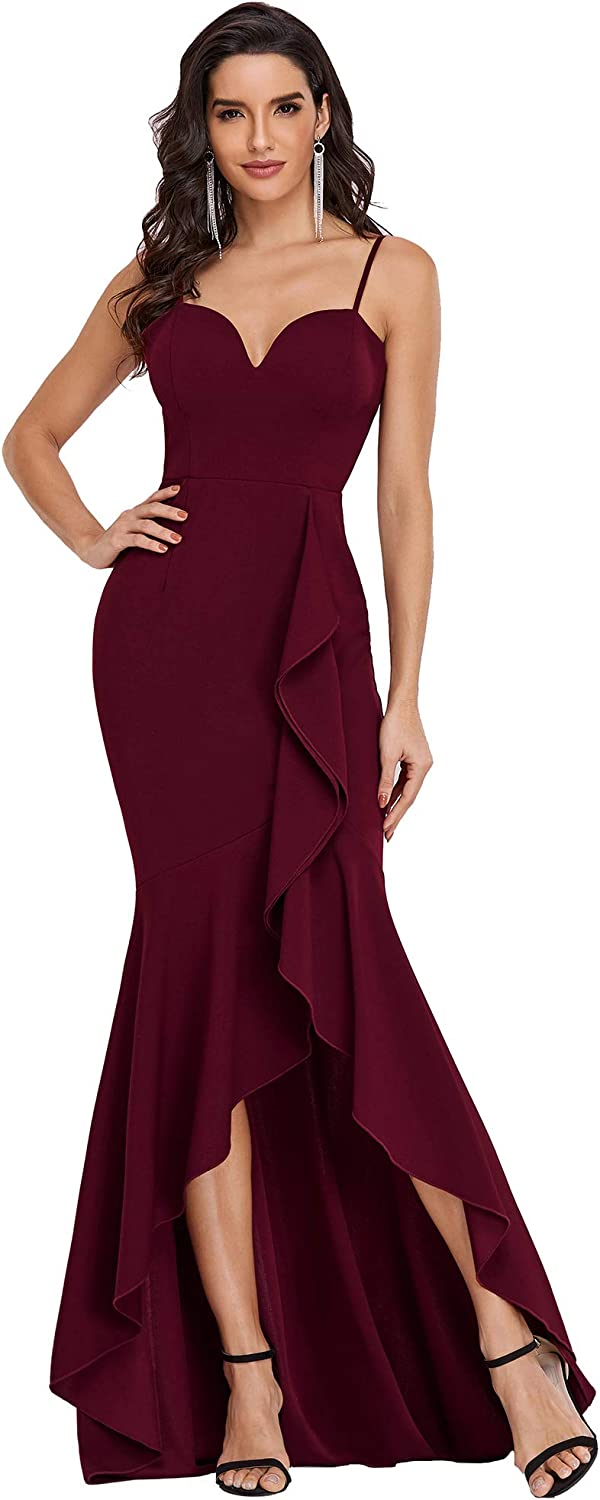 Ever-Pretty Womens Max 64% OFF Outlet ☆ Free Shipping Spaghetti Floor Length Party Low High Formal