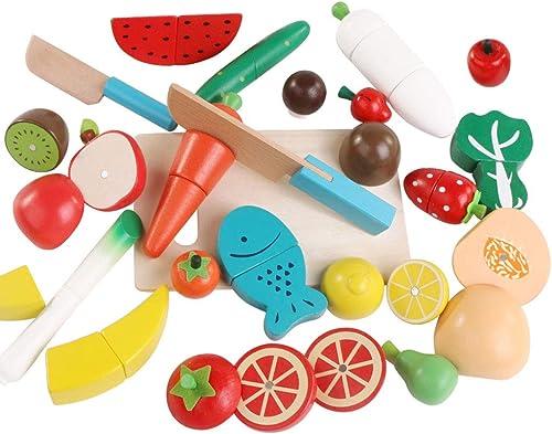 Kinder und Kinder spielen Spielzeug Küche Kunststoff Obst und Gemüse Essen vorzut chen wiederverwendbare Rolle spielen Kinderspielzeug (Farbe   1)