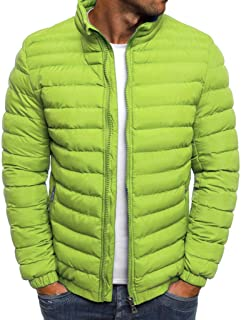 NIUQI Men's Autumn Winter Zipper Warm Down Jacket Packable Light Coat