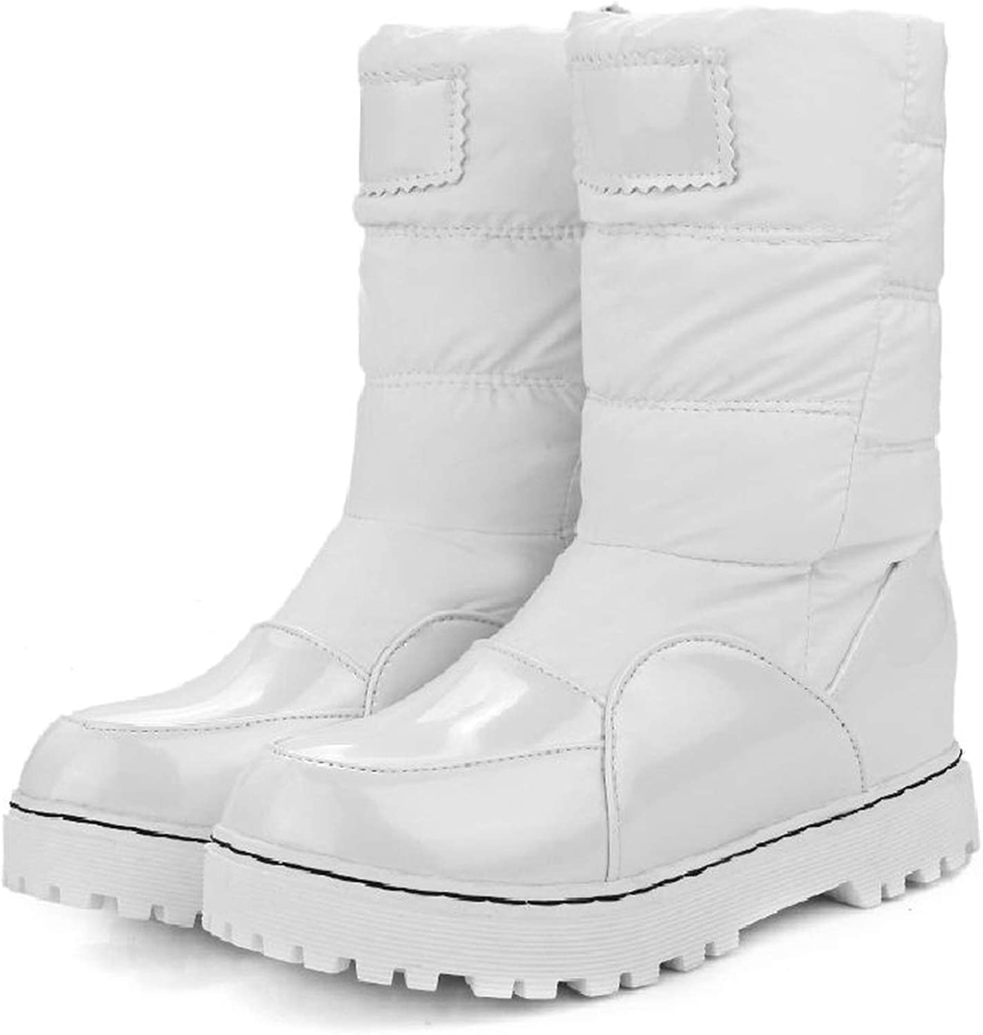 Surprisedresshatglasses-loafers-shoes Taoffen Mother Boots Slip-Resistant Waterproof Cotton-Padded Maternity Plush Snow Boots 33-43