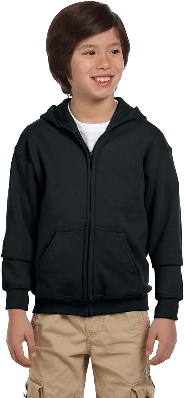 Gildan Big Boy's Heavy Blend Hooded Sweatshirt, Black, X-Small
