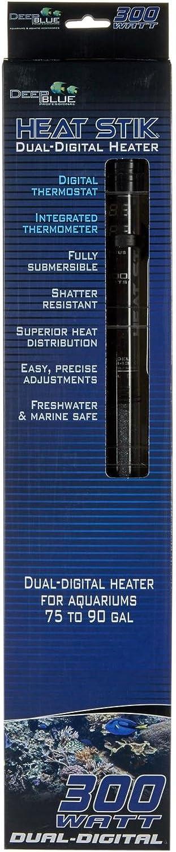Deep bluee Professional Heat Stik Dual Digital Heater  300 Watts