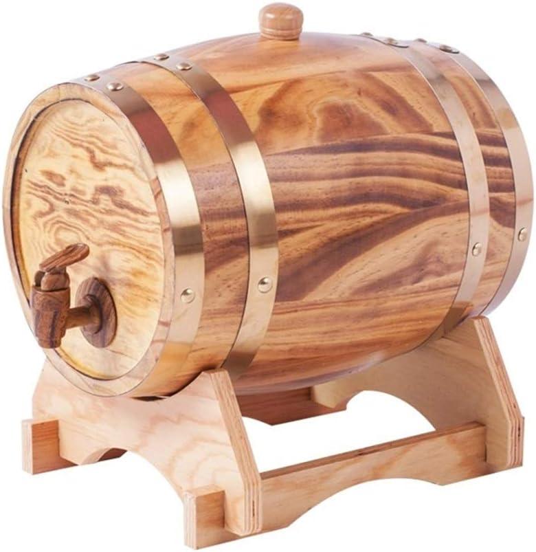 Department store Wine Barrel Wooden Super beauty product restock quality top Oak Vintage Home Style 10L