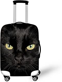 INSTANTARTS Cool Black Cat Adults Spandex Suitcase Cover for 22-26 inch Luggage M