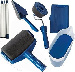 Paint Roller Kit 8 Pcs Paint Runner Set Paint Runner Pro Paint Roller Brush Handle Tool Flocked Edger Corner Cutter Home Office Wall Printing Tool Set