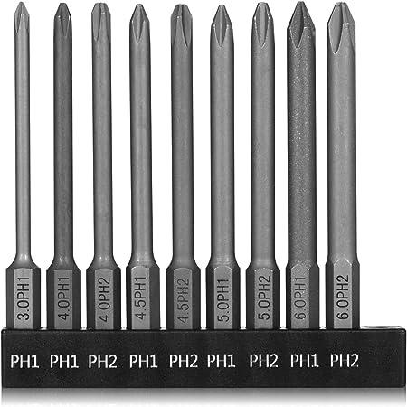 Phillip Screwdriver Drill Bit Set 12pc Hex Shank Magnetic Kit Impact Ready Steel