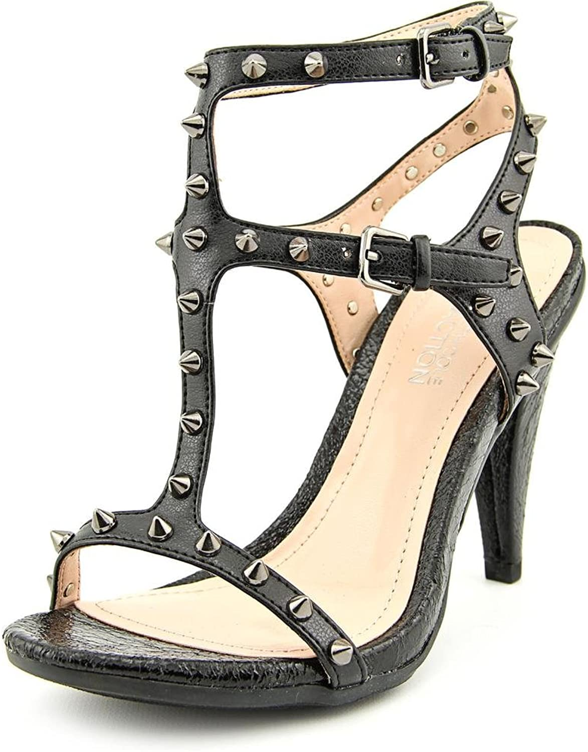 Kenneth Cole Reaction Know Stud Womens 6 Black Dress Sandals shoes