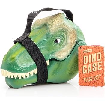Suck UK SK BOXDINO1 Kids Dinosaur Lunch Box | Toy Storage | Bedroom Decor & Organization |, Plastic Green