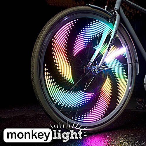 Monkey Light M232R - 200 Lumen USB Rechargeable Battery Full Color Bike Wheel Tire Spoke Light Accessory 32 LED Waterproof Ultra-Durable