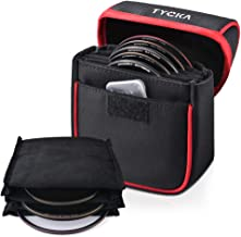 Tycka Field Filters Case for Round Filters Up to 86mm, Belt Style Design Filter Pouch, Removable Inner Lining and Water-Re...