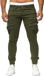 Eastery Pantaloni da uomo Cargo Jeans Pantaloni Fit Chino Jogger Slim Tempo Libero Stile Semplice Pantaloni Fitness Sport ...
