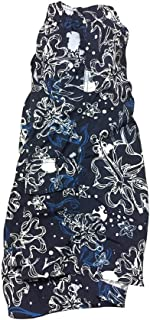 Big and Tall Swim Trunks in Blue Floral Print