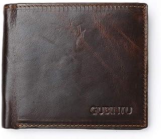 GUBINTU RFID Blocking Wallet for men, leather, black color