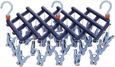 まがり堂 ひっぱりハンガー 29ピンチ/紺色/ディープブルー (補修部品も販売) (5色×3タイプ) (引っ張るだけピンチハンガー)