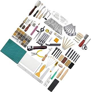WINOMO en Cuir Outils Kit en Cuir Selle Travail Making Outils Set pour Le Bricolage À Coudre Accessoires