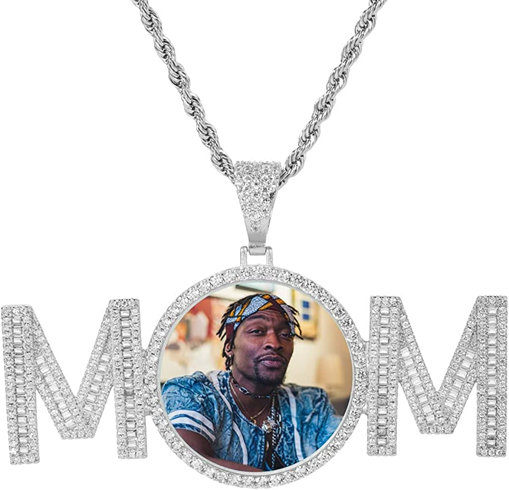 QUNTING Custom Photo Necklace Personalized Choice with Chain shop Pe Picture