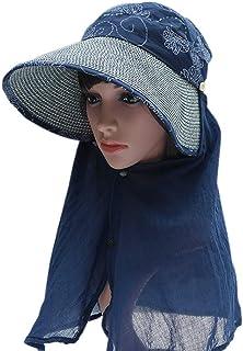 Jian E- Sombrero - Sombrero para el sol omnidireccional de verano para la mujer Agujero superior del cabello superior Sombrero para el sol Sombrero de paja Sombrero fresco transpirable Sombrero de cic