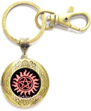 Anti-Possession Locket Keychain Anti-Possession Key Ring,Sigil Locket Keychain,Art Gifts,for Her,for him.HTY-317