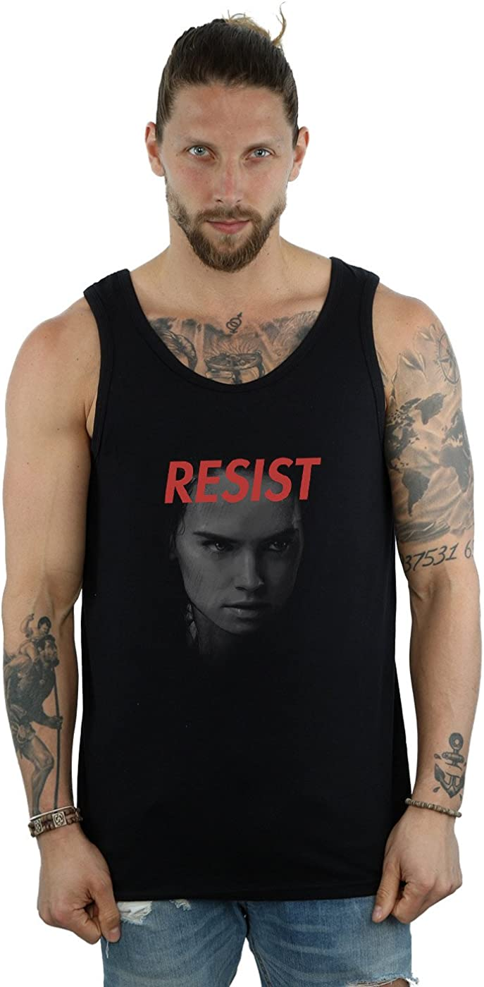 STAR WARS Men's The Last safety Chicago Mall Jedi Black Top Face Tank Rey Large
