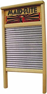 Columbus Washboard 2072 Family Size Washboard, Pack of 1, Silver