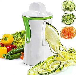 GWFVA Trancheuse à Mandoline en Spirale à Main, hachoirs à légumes et à oignons Coupe-légumes Multifonctionnel Coupe-légum...