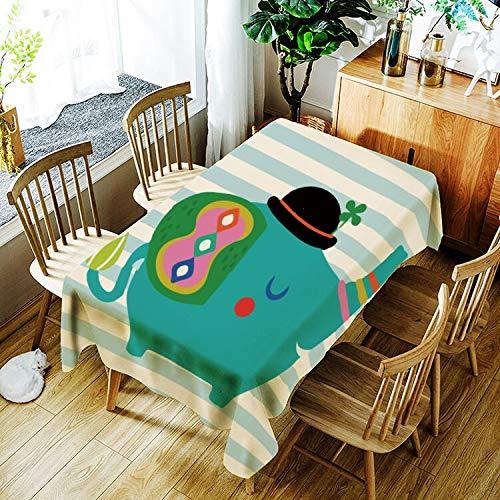 XXDD Mantel de Flores de Colores para niños patrón Simple Creativo hogar cómodo Mantel Impermeable A9 150x210cm