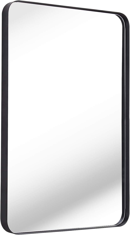 限定価格セール 誕生日プレゼント Clavie Wall Mirror 16x24 Inch Frame Metal for Bathroom Ro