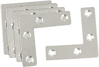 URBEST 5 Pcs Angle Plate Corner Brace Flat L Shape Repair Bracket 50mm x 50mm