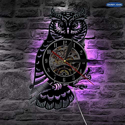 Night Owl Retro LED Reloj de pared de vinilo Liwood mesa lámpara de mesa lámpara de mesa lámparas de mesa lámpara de mesa