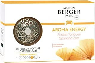 Sponsored Ad - MAISON BERGER - Refillable Car Vent Clip Diffuser Set - 3.1 x 2 x 0.8 inches - Made in France (Aroma Energy)