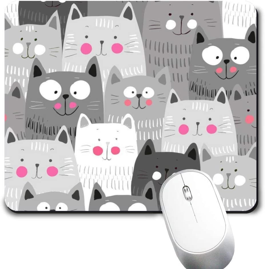 Yaxazepluy - Cat Pattern Mouse Ranking TOP15 Mousepad Max 81% OFF Gaming Rectangle Pad fo