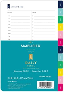 "$34 » Simplified by Emily Ley 2022 Daily Refill Set, 5-1/2"" x 8-1/2"", Desk Size, One Page Per Day Refill (EL100-4311)"