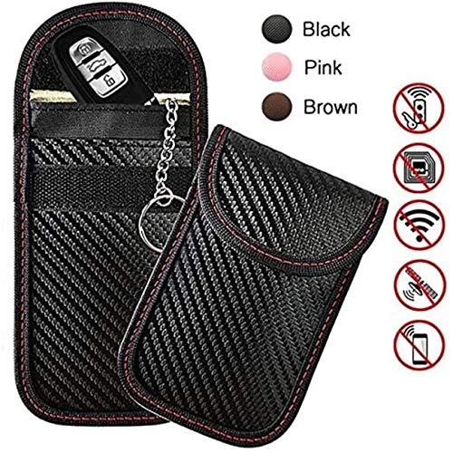 Copackr 2er Pack Faraday-Beutel, Autoschlüssel-Signalblocker-Beutel, Schlüsselhalter, Faraday-Tasche, RFID-Schlüssel-Blocker-Tasche für Autosicherheit, RFID-Schlüsselbeutel, schlüsselloses Autozubehör