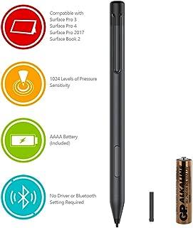 Surface 2019 Pen, Active Stylus Pen,Microsoft Stylus Pen for Surface Pro 6, Pro 5, Pro 4, Pro 3, Surface Laptop 2,Surface Book 2, Book 1,Surface Go,1024 Level Pressure Sensitivity(Black)