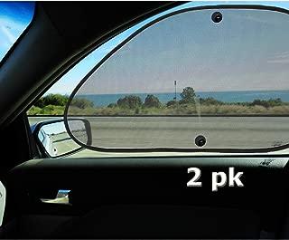 VaygWay Baby Window Sun Shade- Car Accessories Side Sun Visor- Kids Pets Seat 2 Pk- Sun Glare UV Rays Protection