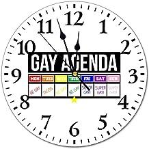 LY-Wall Clock Gay Agenda Taco Modern Wall Clock Silent Non Ticking Living Room Decor Clock