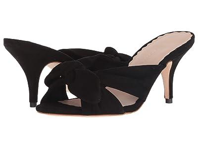 Loeffler Randall Luisa Knotted Kitten Heel (Black Suede) Women