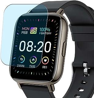 Vaxson 3-pack anti-blått ljus skärmskydd, kompatibel med Donerton P32 1,7 tum smartwatch smartwatch, TPU Guard film skydd ...