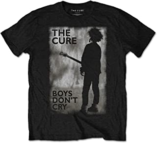 The Cure Boys Don't Cry BW Robert Smith Rock Official Tee T-Shirt Mens Unisex