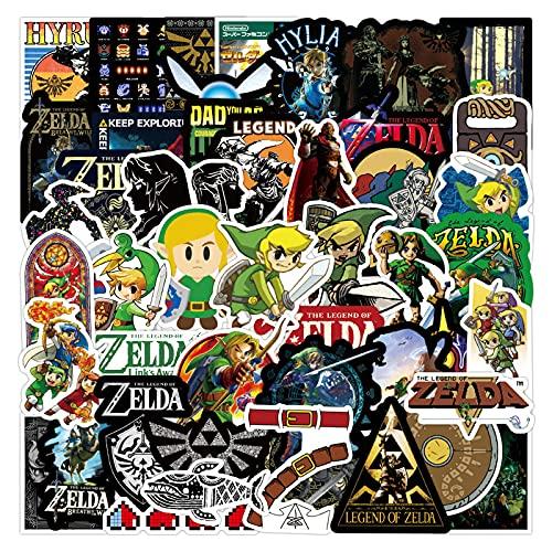 XINHENG Zelda Cartoon adesivi 50 pz/lotto Adesivo per bagagli Adesivo Decorazione Computer Modello Piccolo Adesivo per telefono cellulare Guscio posteriore Adesivo impermeabile Zelda