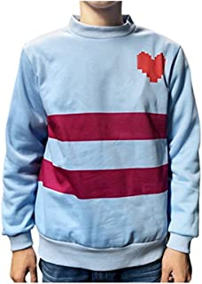 Game Heart Blue Pullover Sweater Cosplay Top