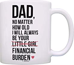 Dad Birthday Gifts Dad I Will Always Be Your Financial Burden Dad Daughter Gifts Funny Mug Cup White