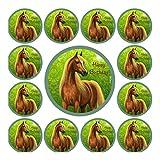 CS-Dekor Tortenaufleger und Muffin Set Pferde 01